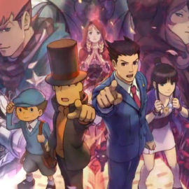 70 минут геймплея Professor Layton vs. Phoenix Wright: Ace Attorney