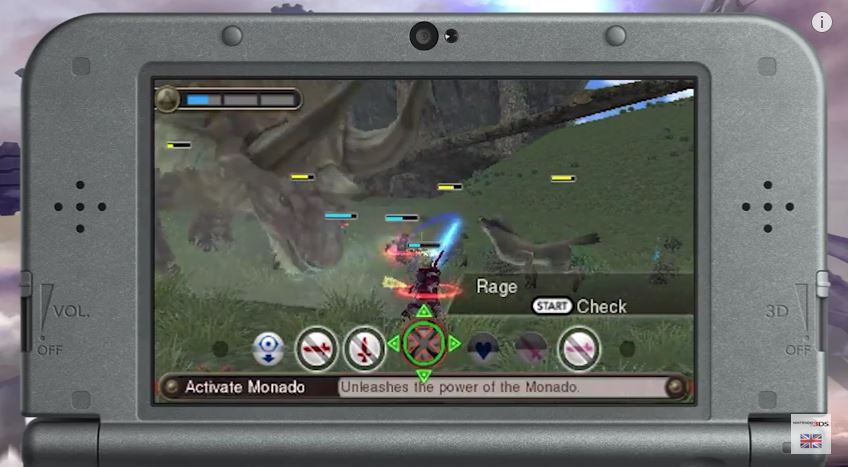 Xenoblade Chronicles 3D - Battle Footage