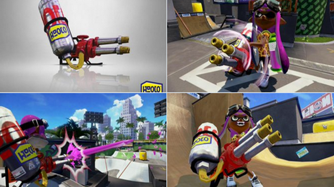 Splatoon – Custom Hydra Splatling уже в игре!