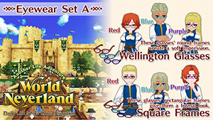 WorldNeverland - Elnea Kingdom Glasses Set A