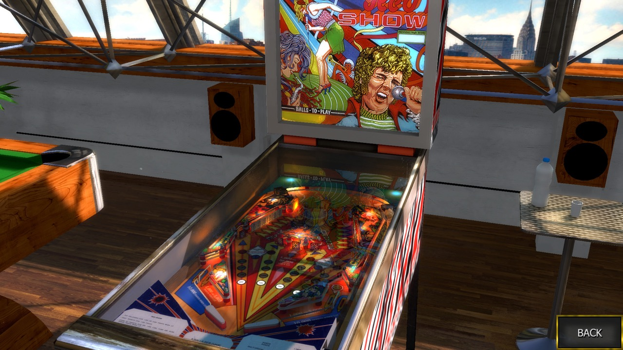 Red Show Table Zaccaria Pinball