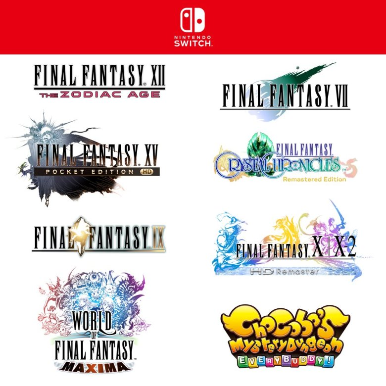 Final Fantasty series on Switch